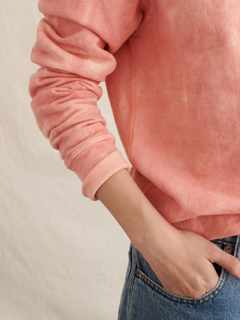Alex Mill Editions: Natural Dye Logo Sweatshirt in Botanical Pink