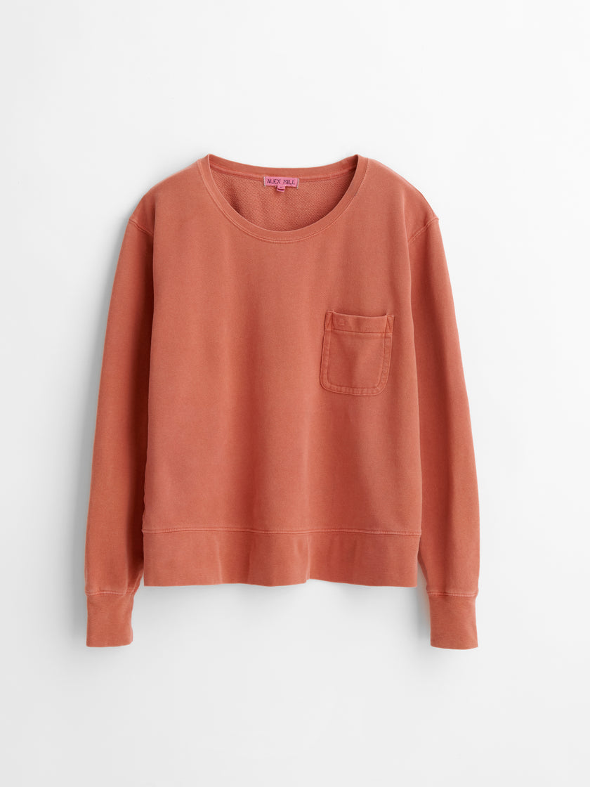 Alex Mill Limited Run: Natural Dye Sweatshirt in Botanical Rose