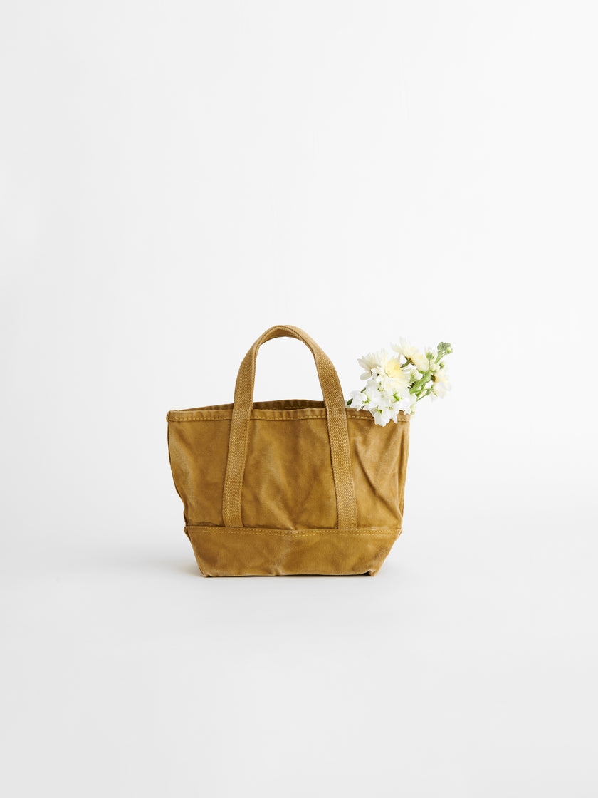 Alex Mill Limited Run: Natural Dye Small Canvas Tote in Faded Citron