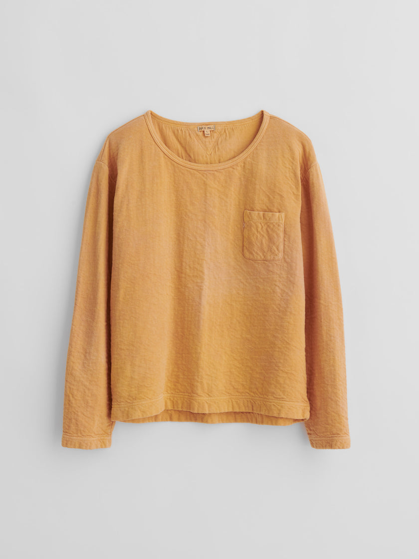 Alex Mill Limited Run: Long Sleeve T-Shirt in Botanical Marigold