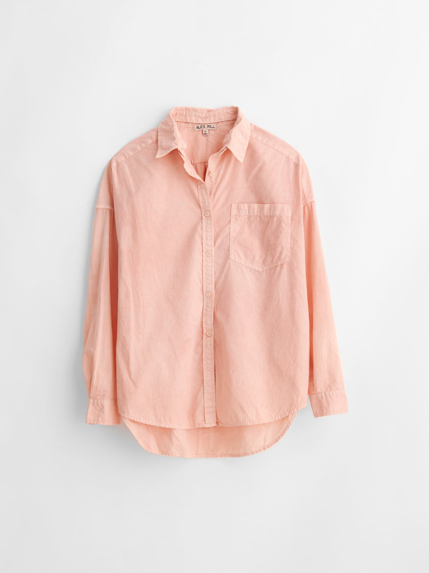 Alex Mill Limited Run: Natural Dye Removable Collar Button-Down in Botanical Blush