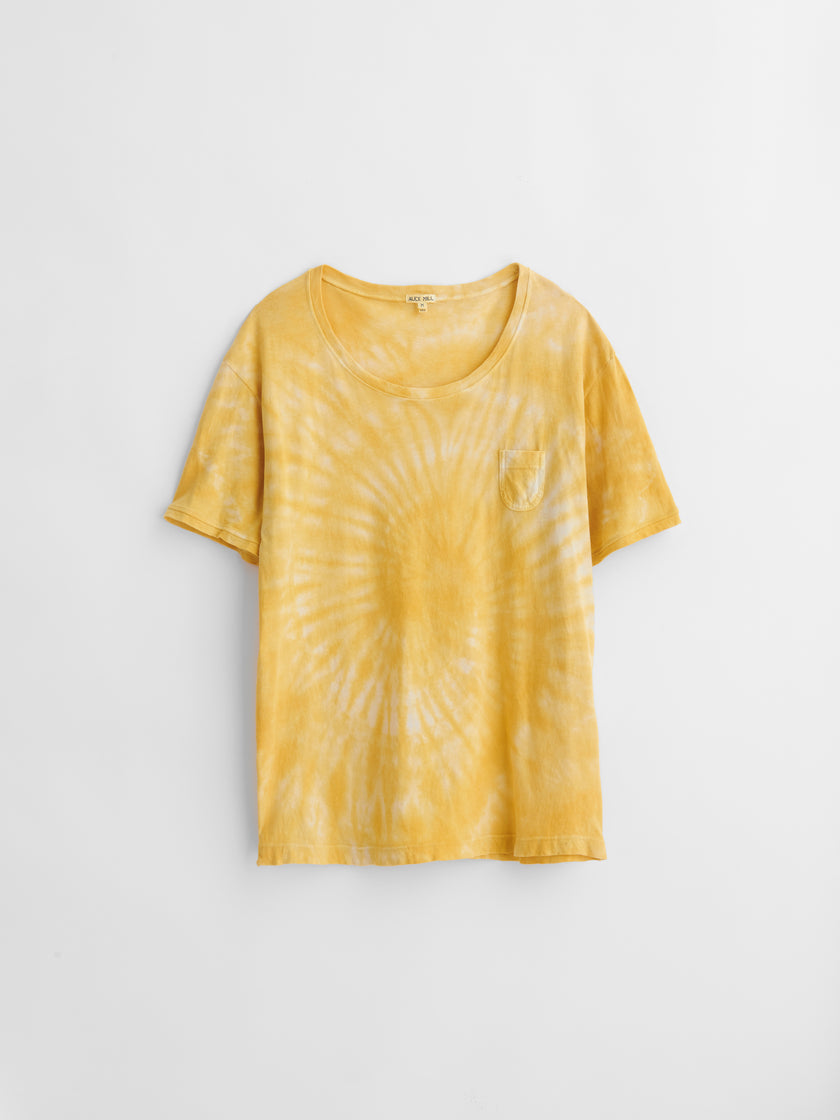 Alex Mill Limited Run: Natural Tie Dye T-Shirt in Botanical Sunshine