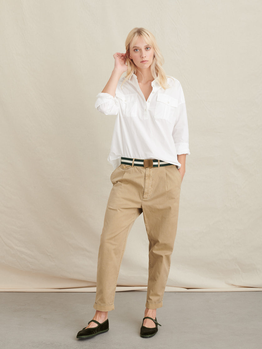 Standard Pleated Pant in Chino