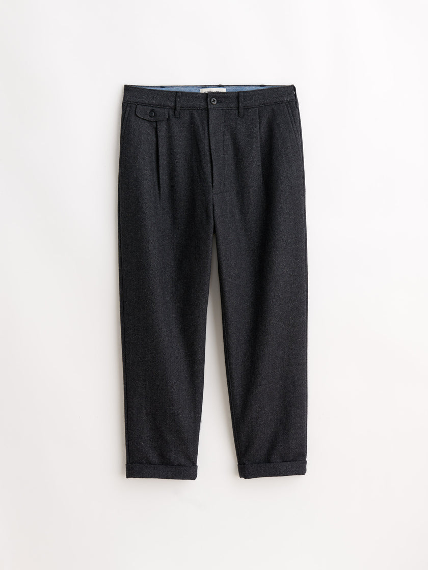 Herringbone Pleated Pant