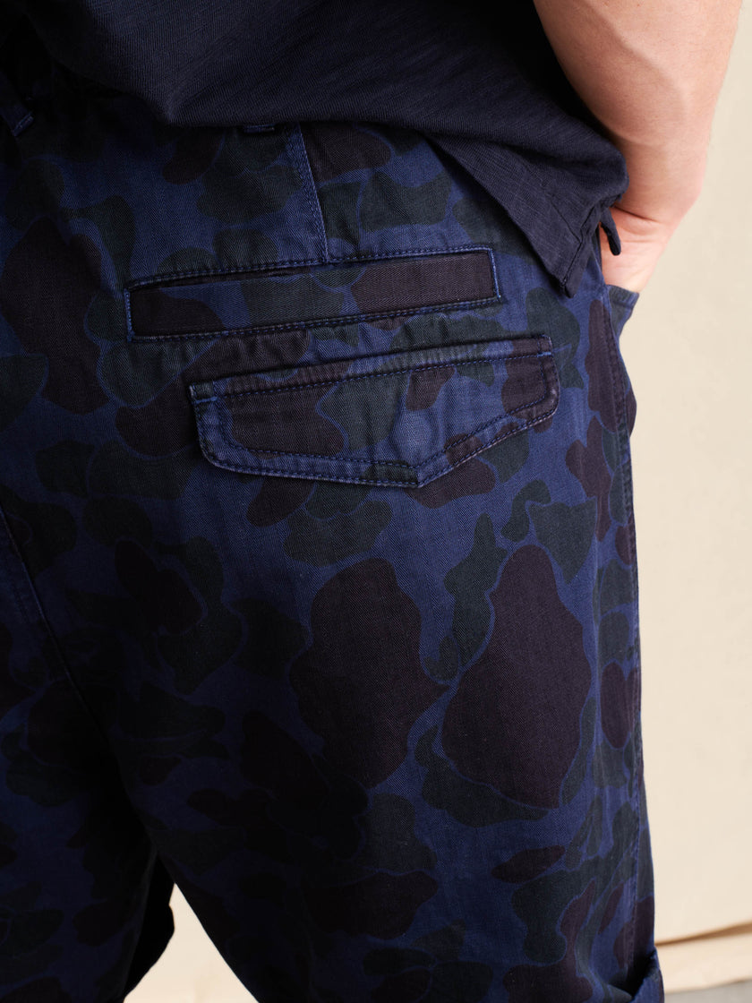Pull On Button Fly Camo Shorts