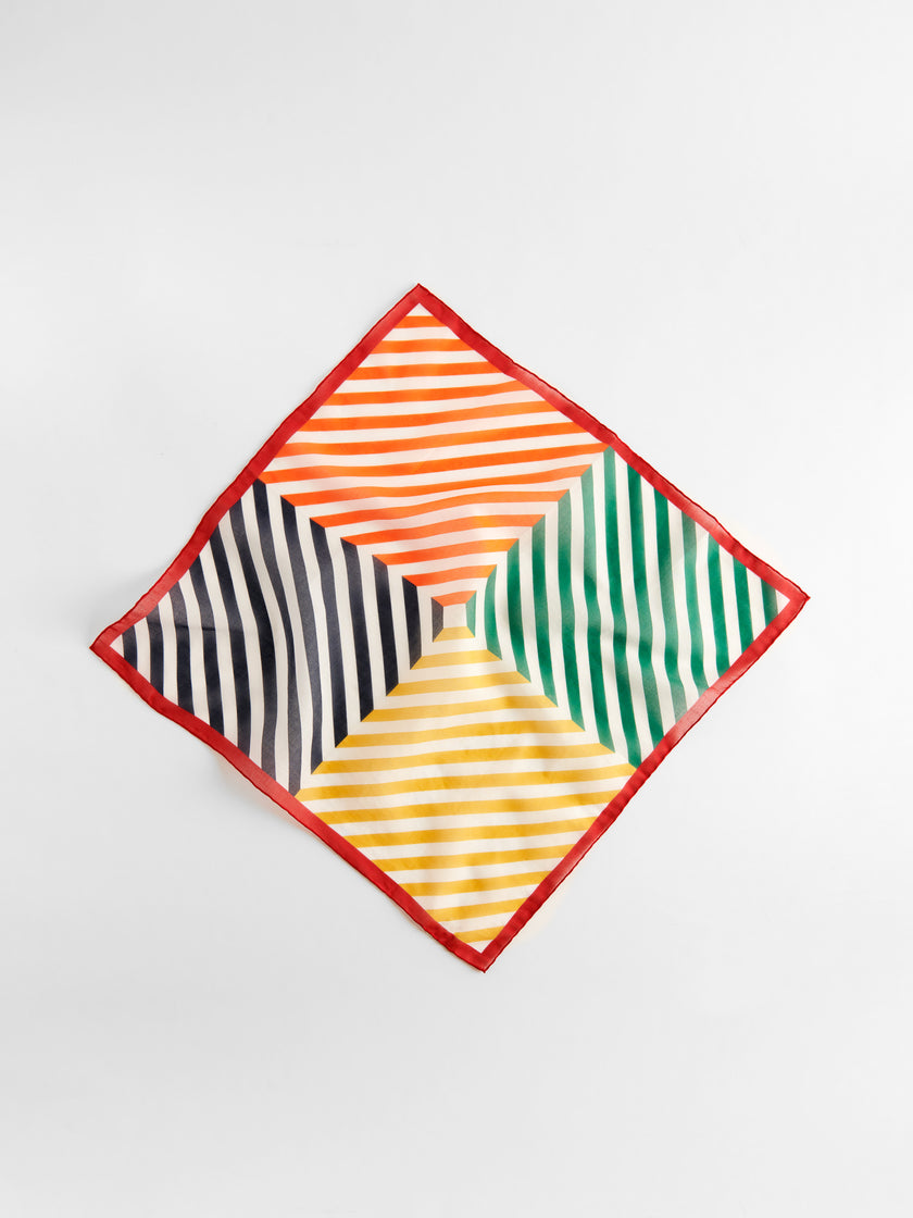 P'Jimmies Bandana in Scrambled Stripes