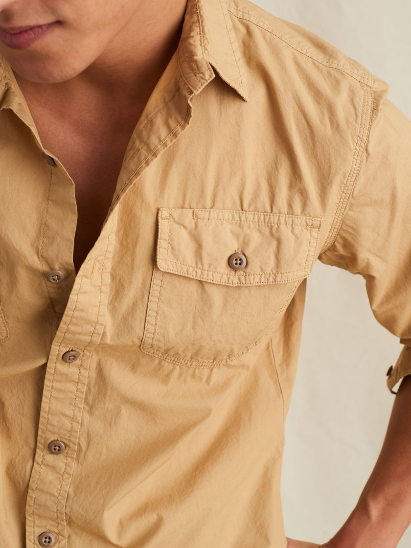 Field Shirt in Garment-Dyed Paper Cotton