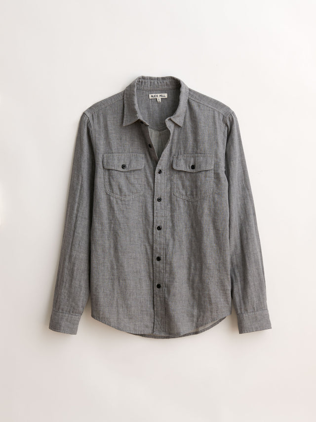 Double Gauze Flap Pocket Shirt