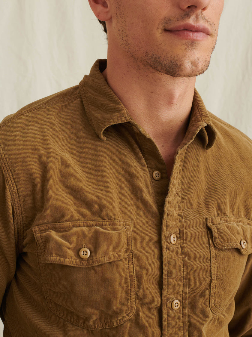 Field Shirt in Fine Wale Corduroy