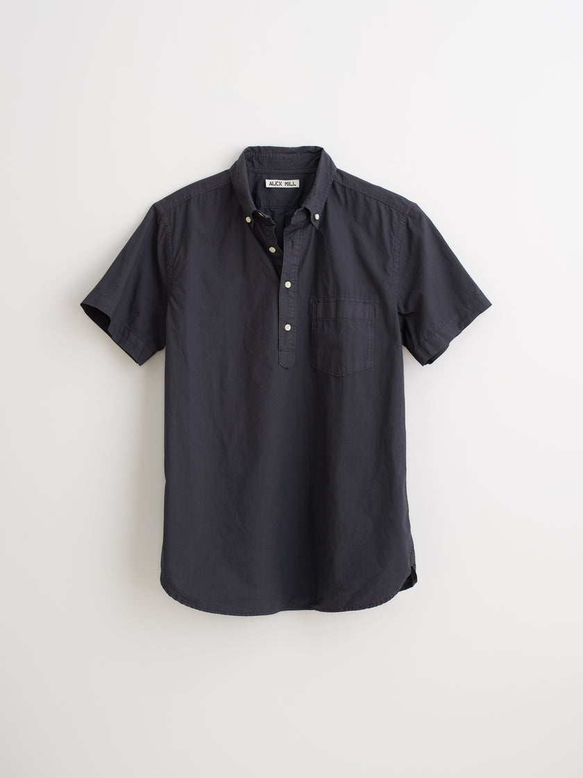 Short Sleeve Popover Shirt in Paper Cotton