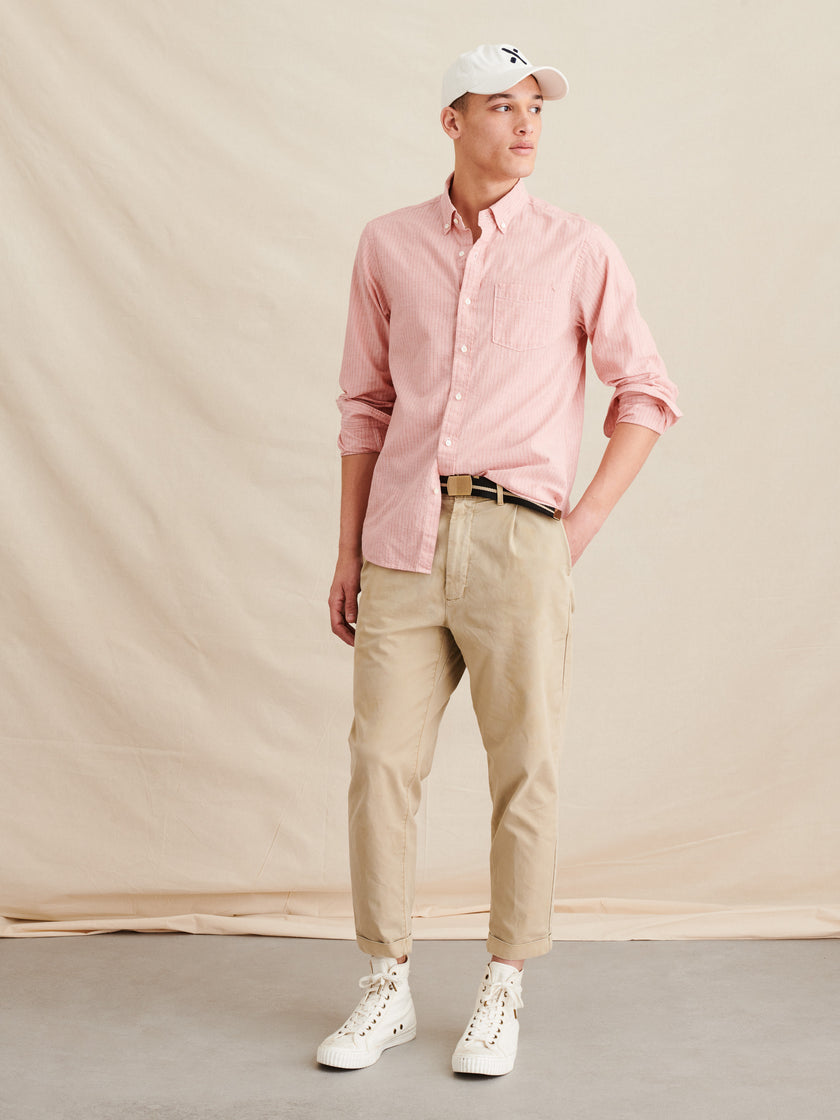 Standard Shirt in Striped Cotton Linen