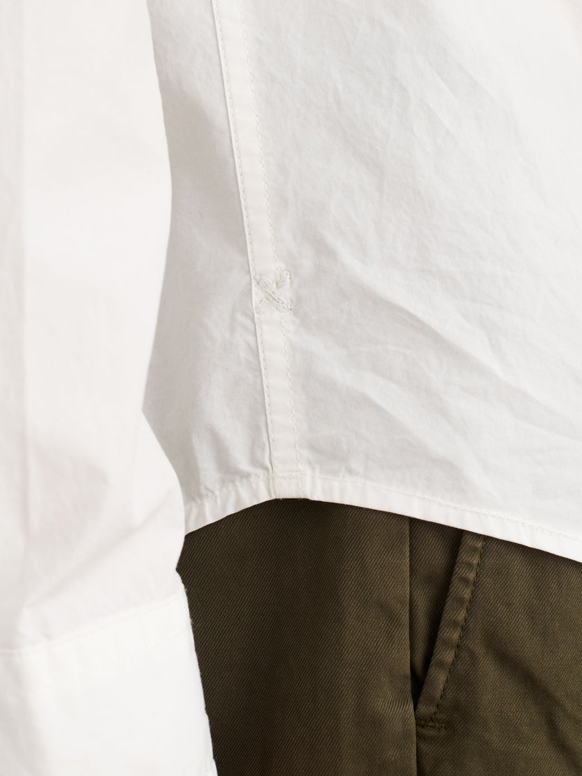 Standard Shirt With Snap Buttons in Paper Cotton