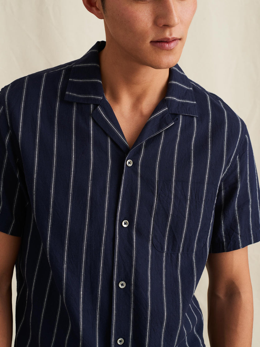 Camp Shirt in Striped Cotton