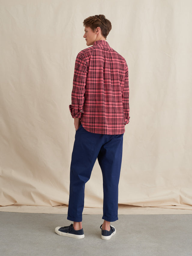 Garment Dyed Plaid Shirt