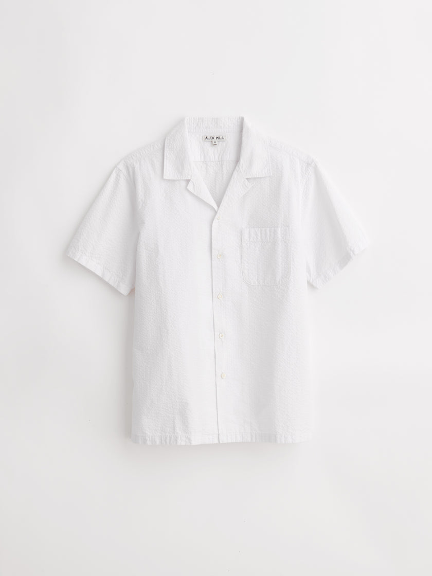 Short Sleeve Camp Shirt in Seersucker