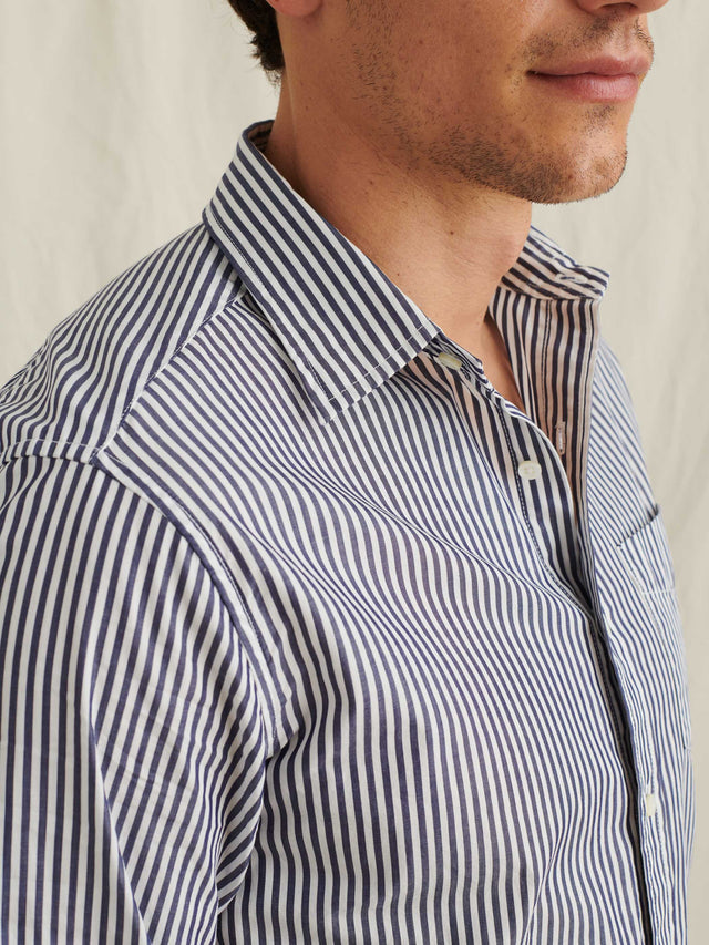 Standard Shirt in Bi-Striped Cotton