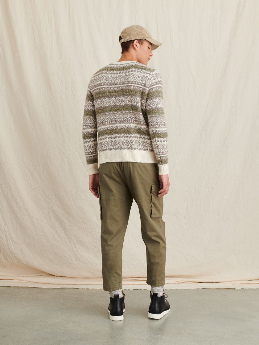 Fuzzy Fair Isle Sweater
