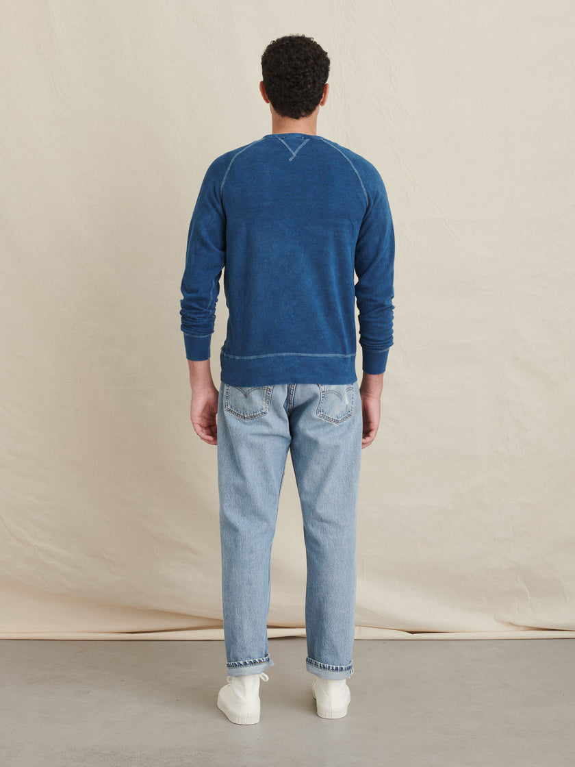Crewneck Sweatshirt in Natural Indigo