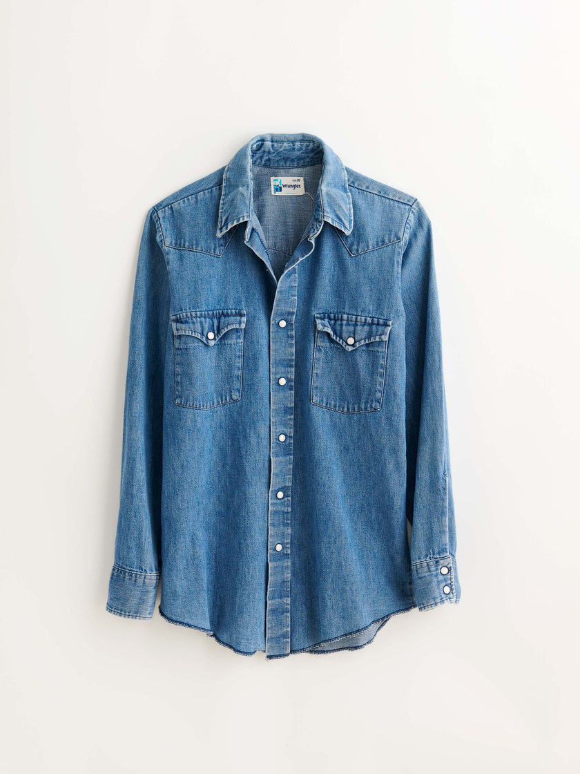 Vintage Chambray Western Shirt