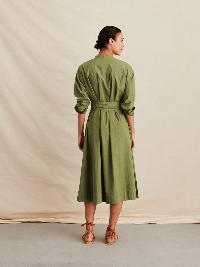 Shirtdress in Paper Cotton