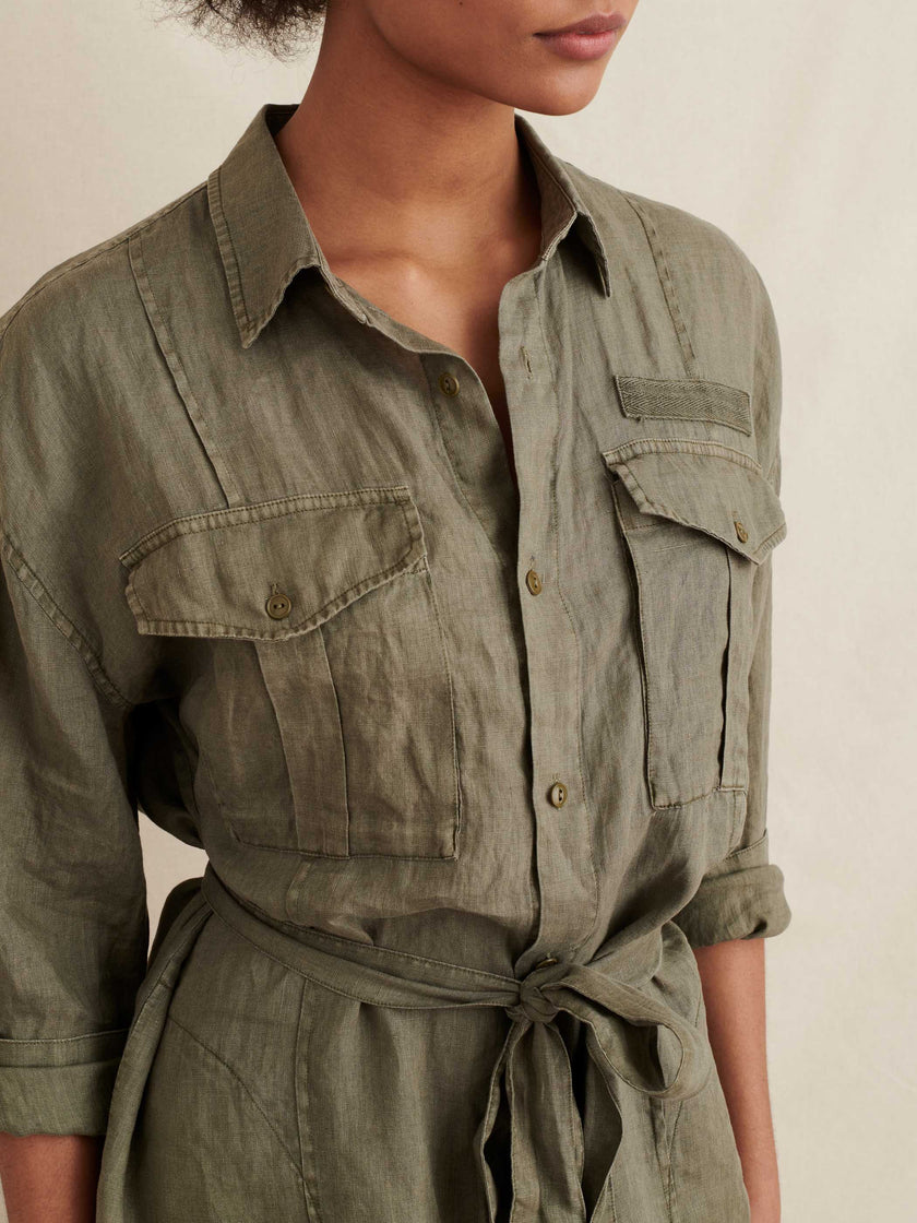 Keeper Shirtdress in Linen
