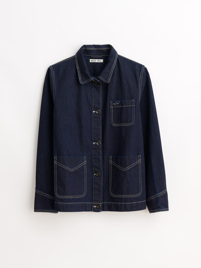 Work Jacket in Indigo Denim