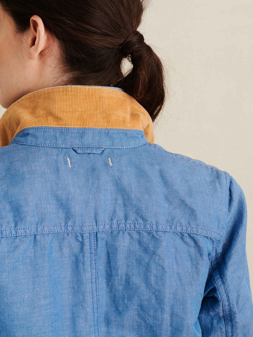 Work Jacket in Linen Chambray