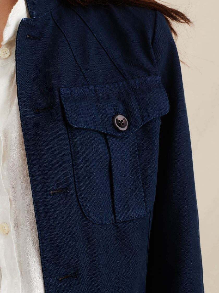 Garment-Dyed Officer Jacket