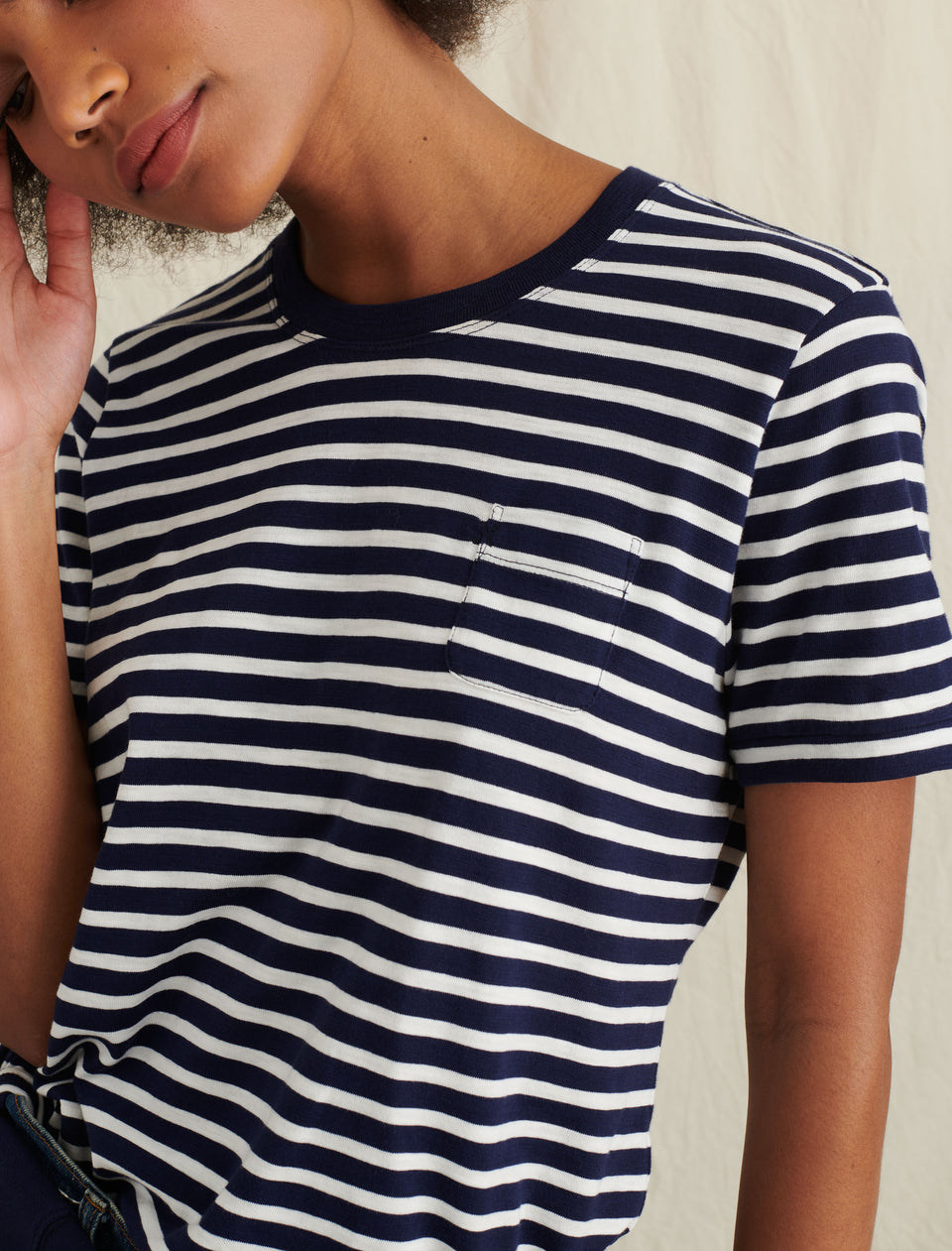 Standard T-Shirt in Striped Slub Cotton