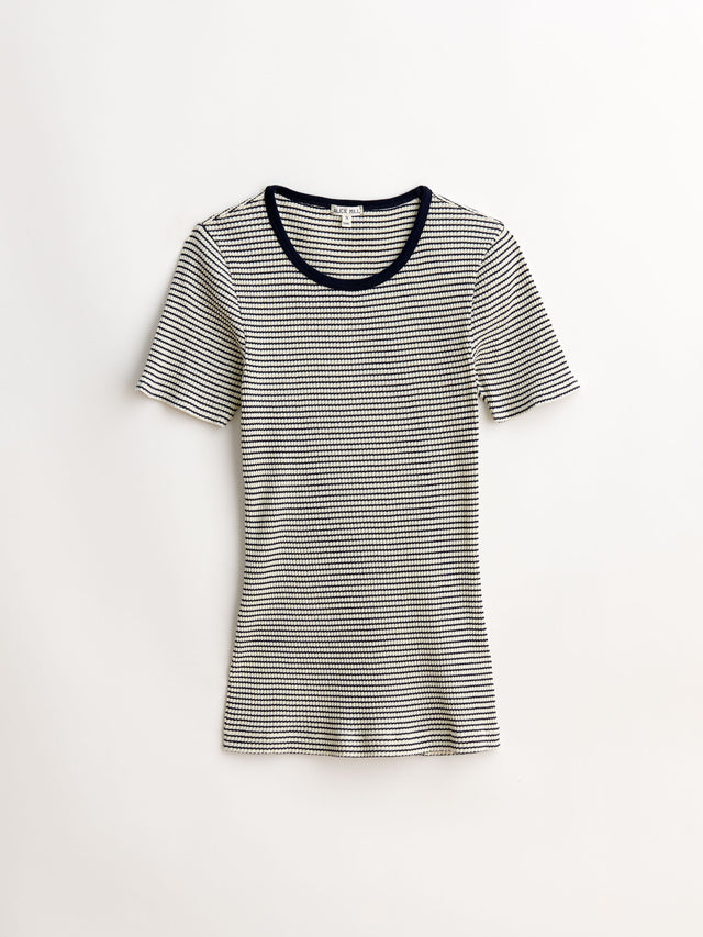 Ribbed Cotton Shrunken T-Shirt