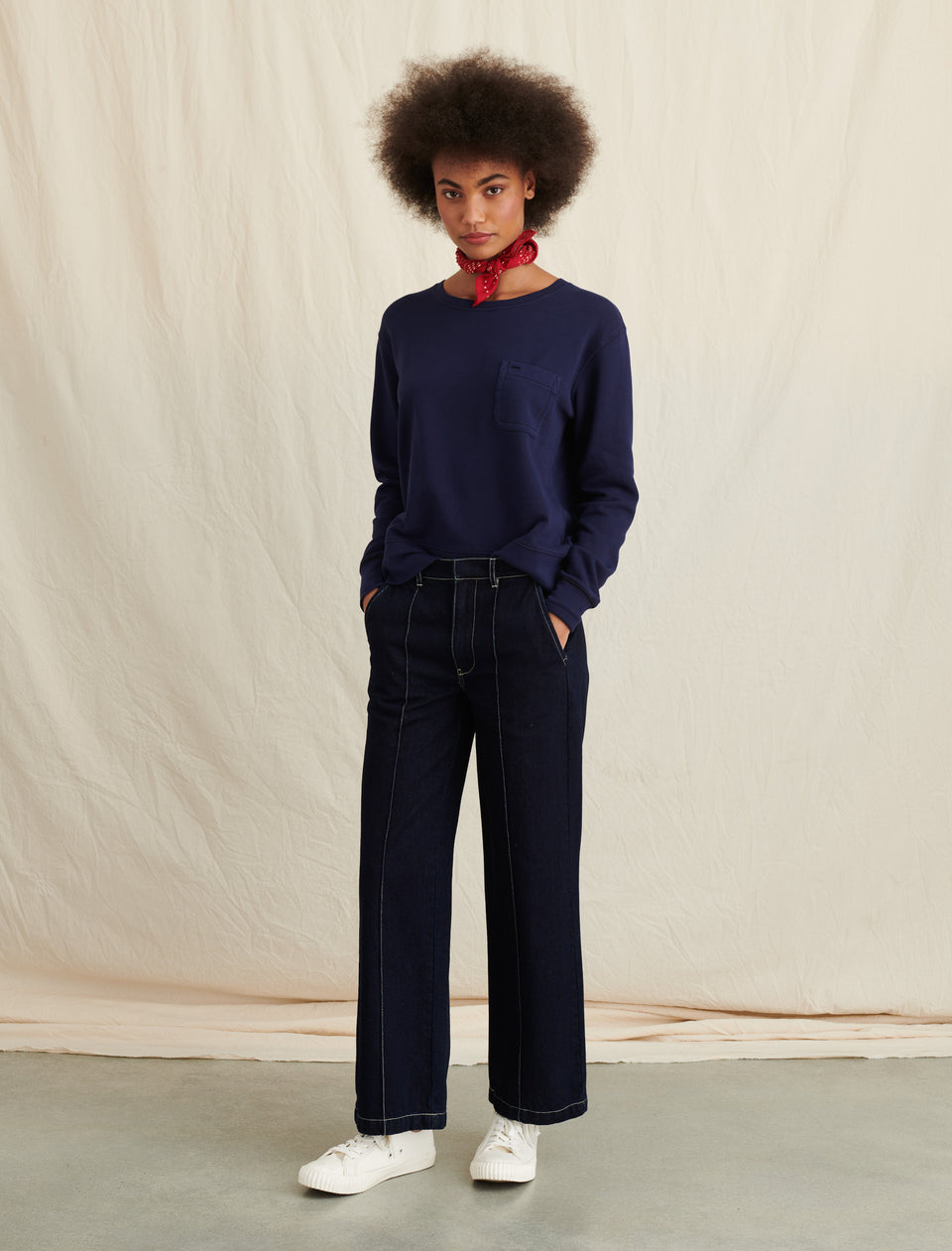 High Rise Trouser in Indigo Denim