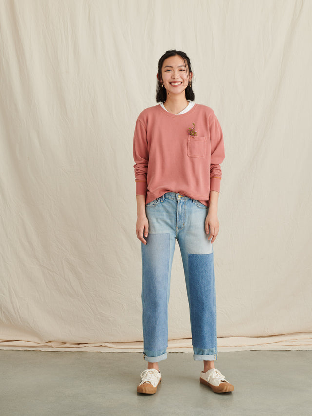 Relaxed Fleece Pocket Sweatshirt