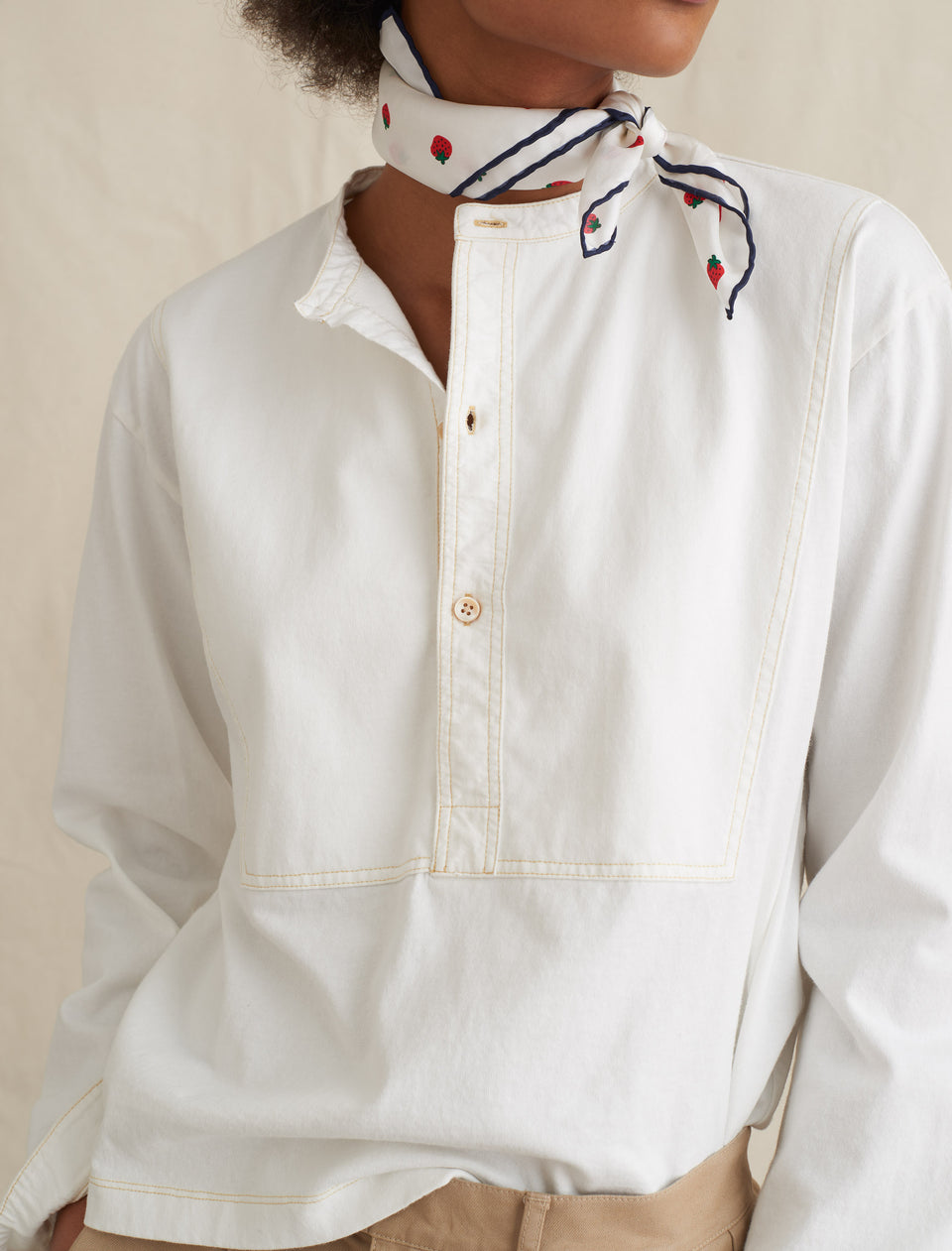 Pilgrim Henley Shirt in Jersey Cotton