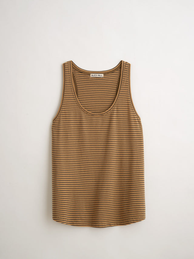 Standard Tank Top in Striped Jersey Cotton