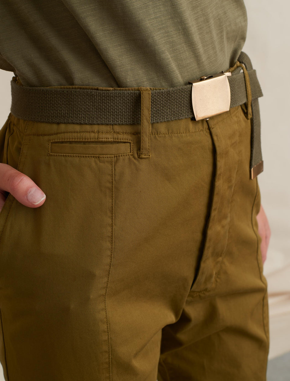 Officer Pants in Cotton Twill