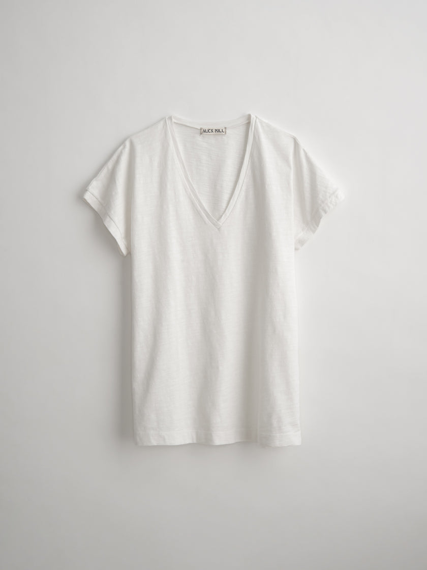 Standard V-Neck Slub Cotton T-Shirt