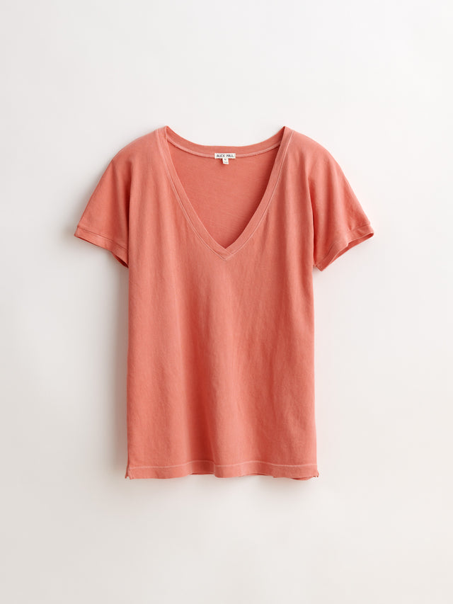 Laundered Cotton V-Neck