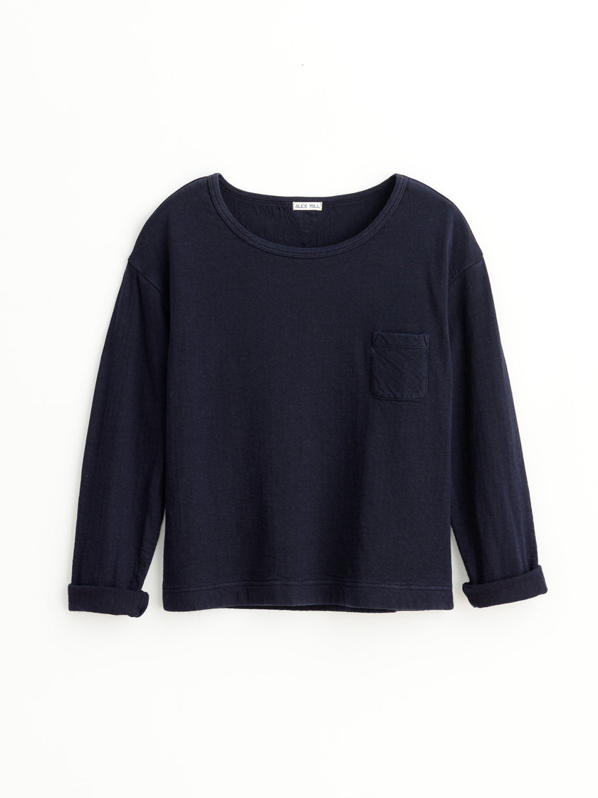 Cotton Double Face Crewneck Pullover
