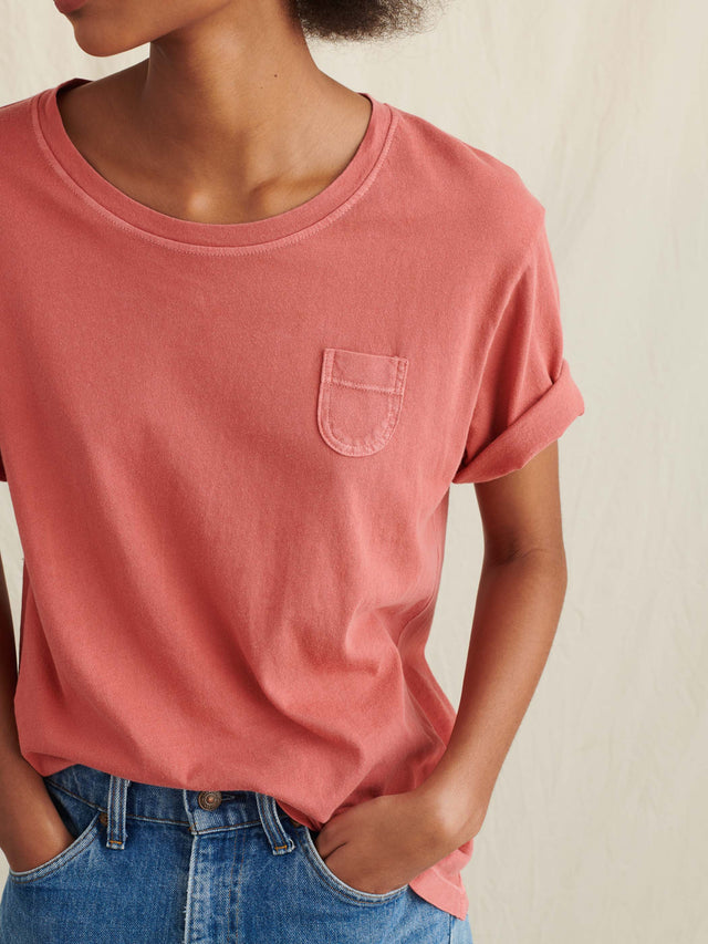 Laundered Cotton Pocket Tee