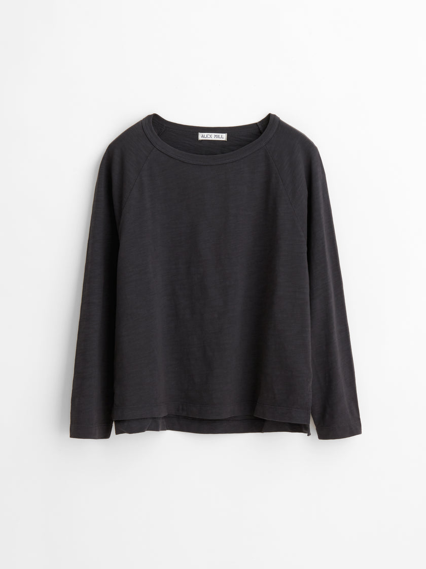 Jessie Long Sleeve T-Shirt in Slub Cotton