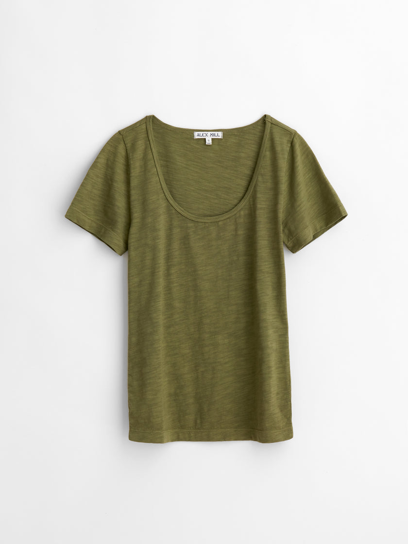 Standard Scoopneck T-Shirt in Slub Cotton