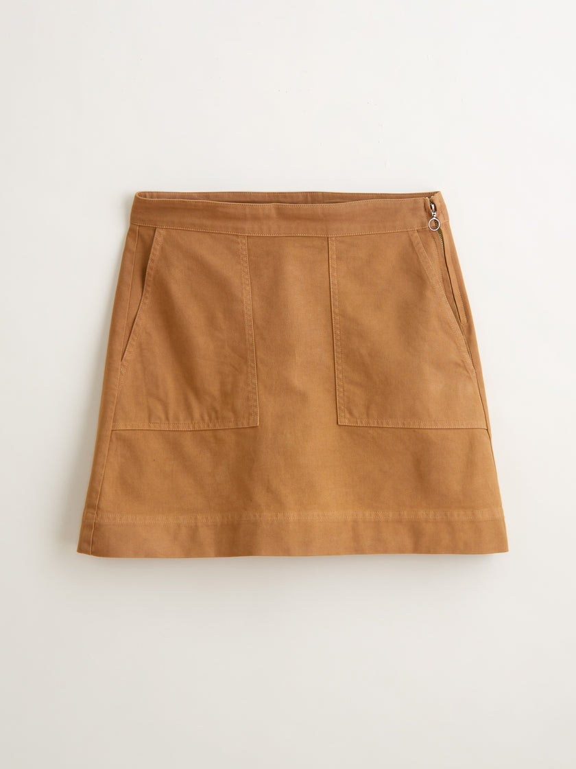 Washed Twill Skirt