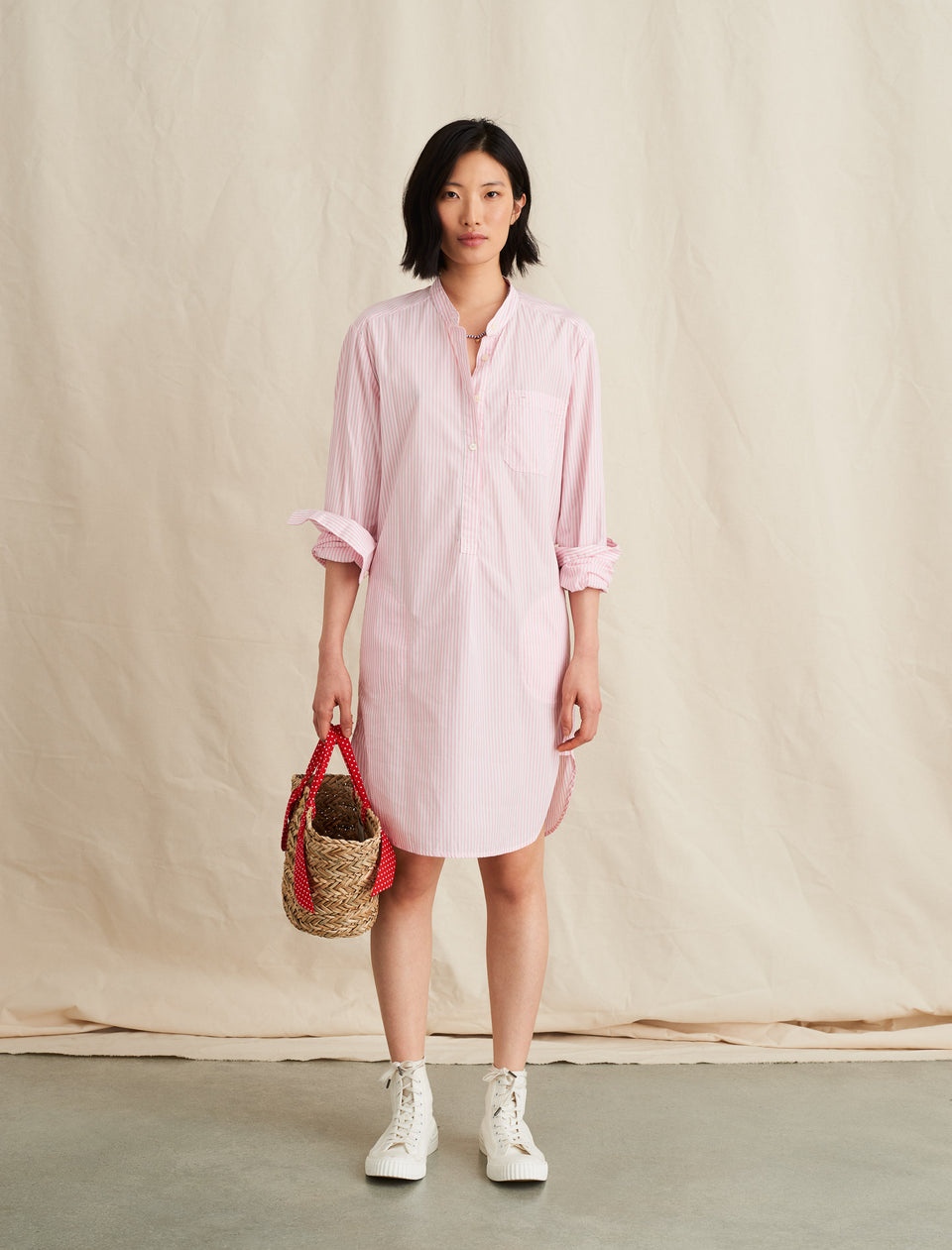 Popover Dress in Striped