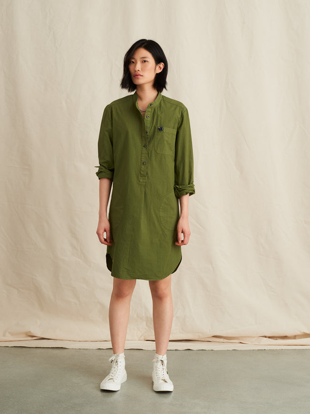 Popover Dress in Garment Dyed