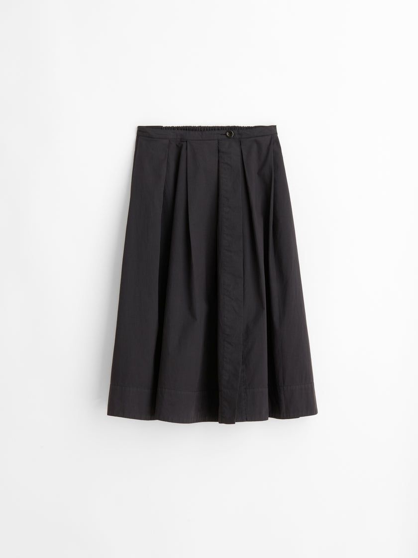 Midi Skirt in Paper Cotton