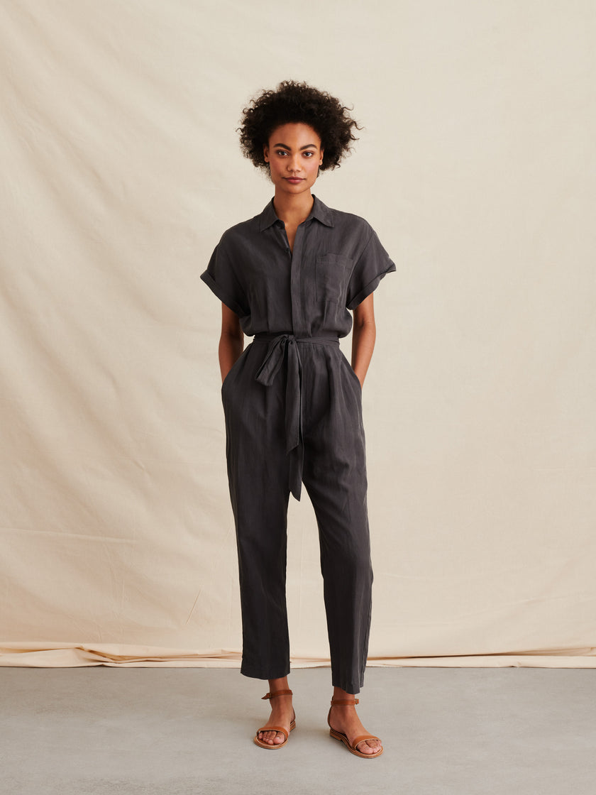 Drapey Jumpsuit in Tencel Linen