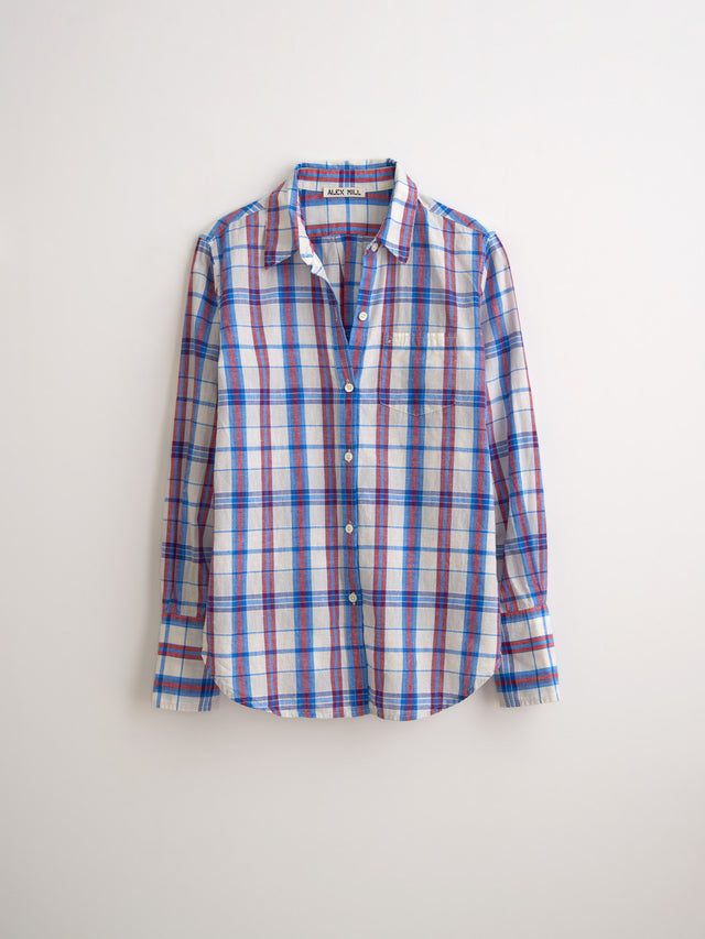 Standard Button-Down in Blue Plaid