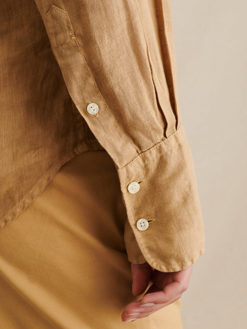 Standard Button-Down in Garment-Dyed Linen