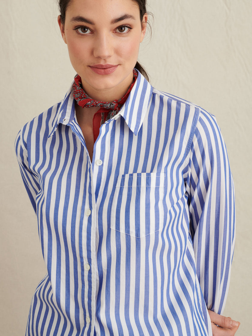 Wyatt Shirt In Bold Stripe