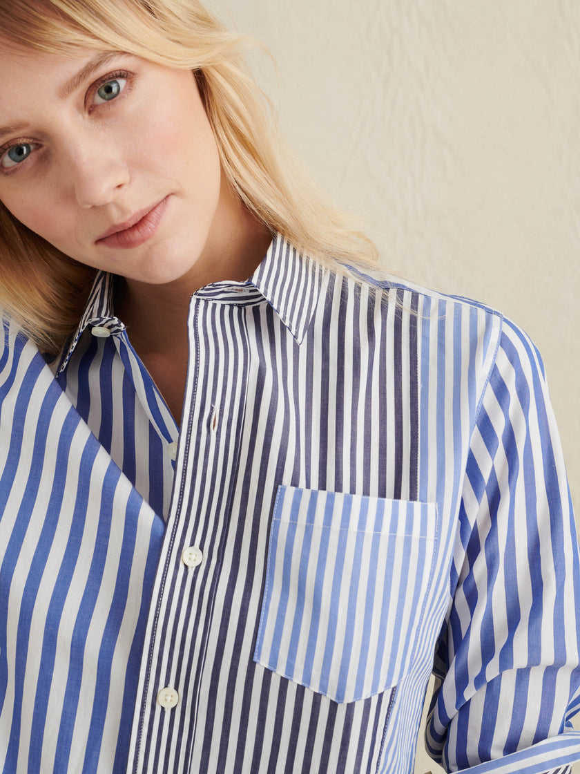 Wyatt Shirt in Mixed Stripe